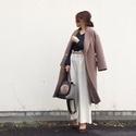 モカ色コートには差し色をあえて使わない。商談後のランチはやさい家めい #東京365日コーデ