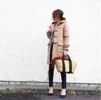 ダッフルコートはかごバッグでちょい外し。銀座のジムで汗を流す #東京365日コーデ