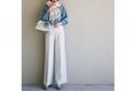 白×水色の2トーンコーデなら絶対上品にキマる。#東京365日コーデ