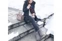 雪予報の日は、ムートンブーツ+ストールで寒さ対策 #東京365日コーデ