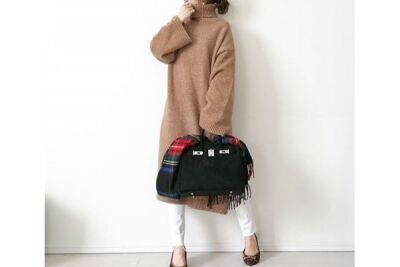 ニットワンピは、白スキニーでカッコかわいく着る #東京365日コーデ