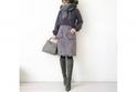 コンサバスタイルは、グレーの小物でまとめて上品に #東京365日コーデ