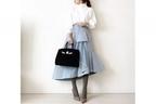 ホワイト×水色で、爽やかに女度をUPさせる #東京365日コーデ