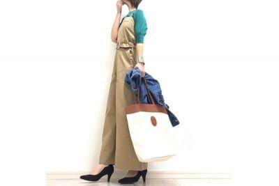 今っぽくキマるチノサロペットは、女友だちからの支持率大 #東京365日コーデ