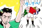 サッカーとは違う? ラグビーの反則とゲーム再開方法