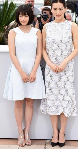 綾瀬はるか(Dior)&広瀬すず/『海街diary』上映会 in 第68回カンヌ国際映画祭