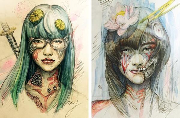 「グラウンド ワイ」がアーティストの笹田靖人が描いた「GIRL」をデザインソースにしたコラボレーションアイテムを展開