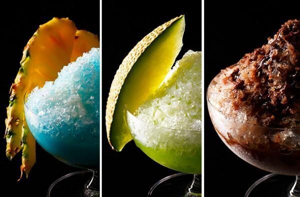 ホテルニューオータニの「PREMIUM FRAPPECOLLECTION ~プレミアムフラッペ コレクション~」/「Frappe du Chocolat」&「Royal Melon」&「Coco Blue」(各2,500円)