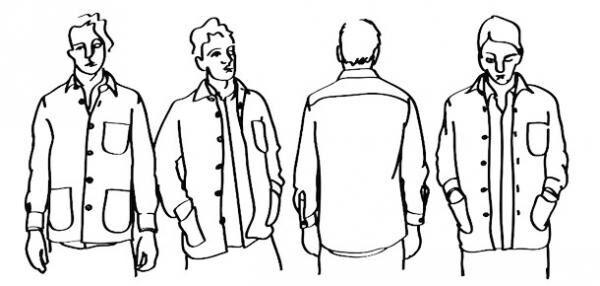 「スティーブン・アラン」×「シュナイダーマン」がコラボした、オーバーシャツ(3万8,000円)