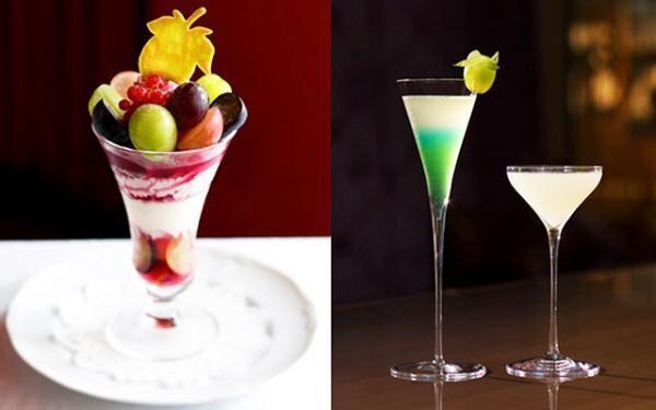 """資生堂パーラー銀座本店「サロン・ド・カフェ」および「Bar S」で""""ぶどう""""を用いたパフェやカクテルなどを提供"""