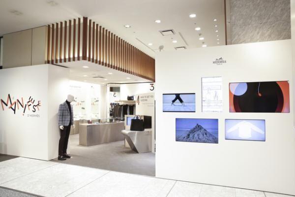 伊勢丹新宿店メンズ館1階にオープンした、エルメスメンズの期間限定ショップ