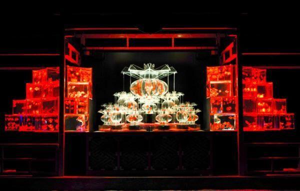 「琳派400年記念祭アートアクアリウム城~京都・金魚の舞~」で特別イベント「ブルーシーフード・ナイト」を開催