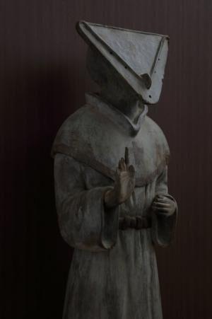 展示作品「縄文時代の司祭」