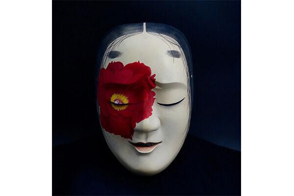 淺野健一 「avatar24」 2015年 檜、漆、水干絵具