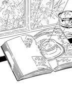 """イラストレーター黒田潔が代官山 蔦屋書店で個展。""""水分""""をモノクロ線で描く新作「Rain」"""