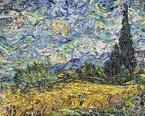 雑誌のスクラップがゴッホの絵画に?気鋭の現代美術家ヴィック・ムニーズ