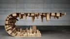 テーブルの下に広がる都市、重力を無視した家具をデザインするステリオス・モーサリス