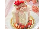 母の日の贈り物にギフトボックス型のケーキはいかが?カーネーションはベリーで表現