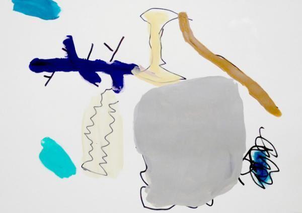 平山昌尚|ゴミ (6040)|2016|アクリル絵具、ペン、ボールペン、紙|297 x 420mm