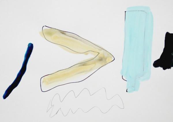 平山昌尚|ゴミ (6041)|2016|アクリル絵具、ペン、ボールペン、紙|297 x 420 mm