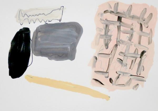 平山昌尚|ゴミ (6042)|2016|アクリル絵具、ペン、ボールペン、紙|297 x 420 mm