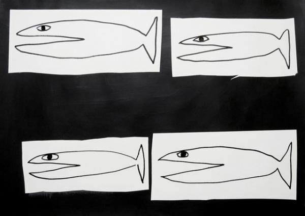 平山昌尚|エイプリルフール(6038)|2016|アクリル絵具、ペン、ボールペン、紙|297 x 420 mm