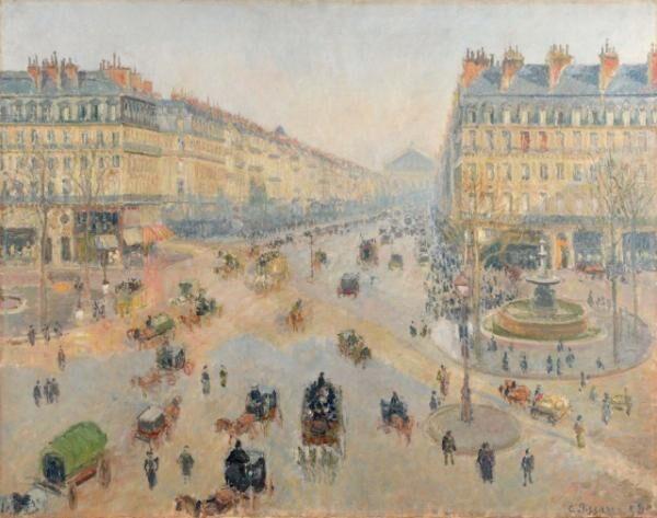 カミーユ・ピサロ《パリのオペラ座通り、テアトル・フランセ広場》1898年