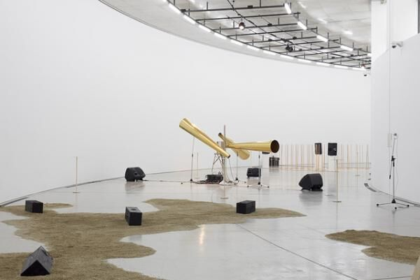 "Shuta HasunumaInstallation view of ""compositions: space, time and architecture"" at Aomori Contemporary Art Centre, 2015"