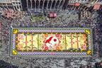 花で敷き詰められた巨大カーペットが広場に出現!ベルギーと日本の友情を祝う