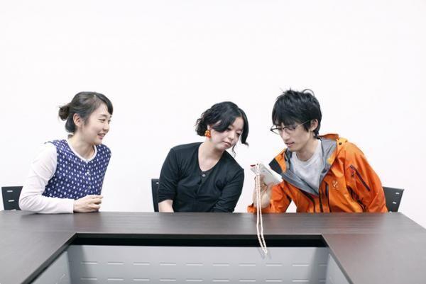 2016年ITSファイナリストの片貝葉月(左)、時澤知菜実(中央)、清水政紀(右)