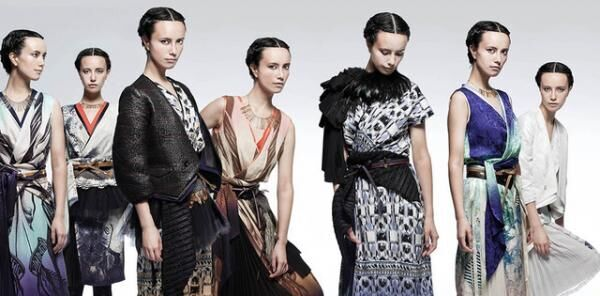 """ソマルタのデザイナー廣川玉枝による""""新時代の和装""""。西陣織「細尾」など4社と共作した着物を展示"""