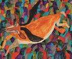 絵本作家ミロコマチコによる展覧会開催。絵本原画や大型立体作品などを展示