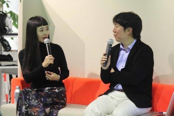 ファッションコンサルタントの市川渚(左)とITジャーナリスト兼コンサルタントでありifs未来研究所外部研究員の林信行(右)