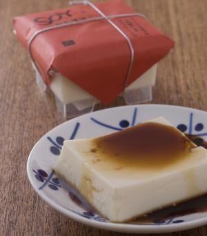 SOY豆乳醤油プリン350円。自家製醤油蜜は辛さと甘さが絶妙バランス