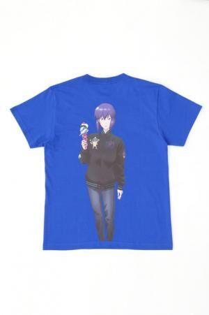 MOTOKOKUSANAGIICECREAM TEETシャツ攻殻機動隊S.A.C.のブルー。ツーピーエムワークス限定カラー
