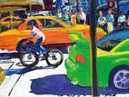 ニューヨーク描き出すトム・クリストファー個展、大阪ギャルリーためながで開催