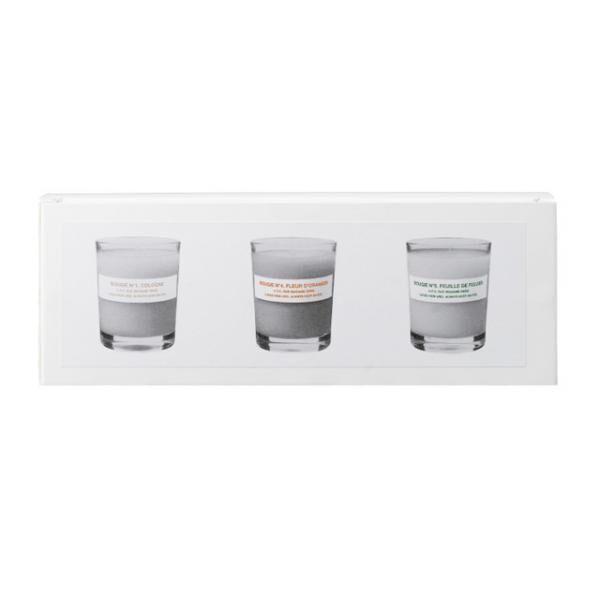 3種類のミニキャンドルをセットにした「Coffret petites bougies 1.4.5.」