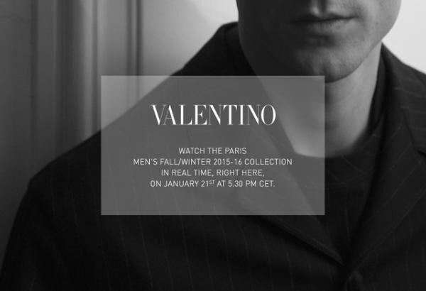 ヴァレンティノ15-16AWメンズコレクションを生中継