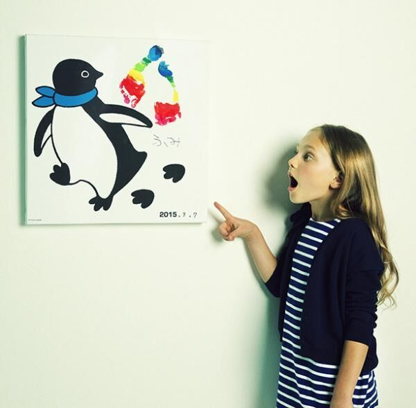 「一緒に歩こうペンギン足跡アート」(1万5,000円)