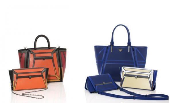 左上/ハンドバッグ(16万円)、左下/ショルダーバッグ(7万5,000円)、右上/トートバッグ(13万5,000円)、右下/チェーンバッグ(7万円)