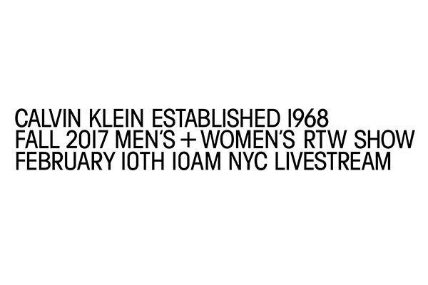 カルバンクラインが、2017年秋のメンズ&ウィメンズコレクションショーの模様をライブストリーミング配信する