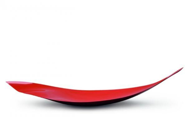 'Line and Surface: VI', urushi japanese lacquer linen urethane form, 170 x 49 x 32 cm.2013