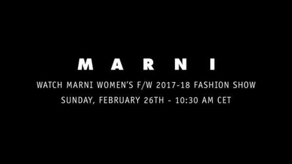 マルニ2017-18秋冬ウィメンズコレクション、26日18時半より