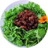 肉味噌&焼豚&香菜