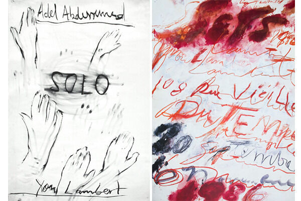 POSTER (1988) by Jean Michel Basquiat / POSTER (1986) by Cy Twombly