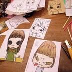 カイカイキキギャラリーで奈良美智の個展が開催、過去30年間のドローイング作品を展示