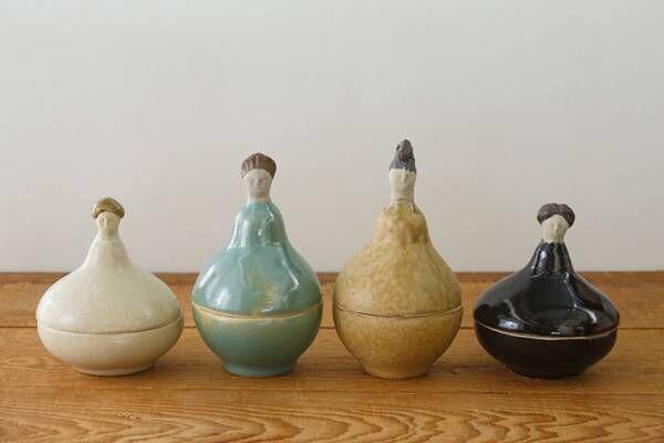陶芸家・今井律子の個展開催。代表作の「人ポット」など個性豊かな作品が並ぶ