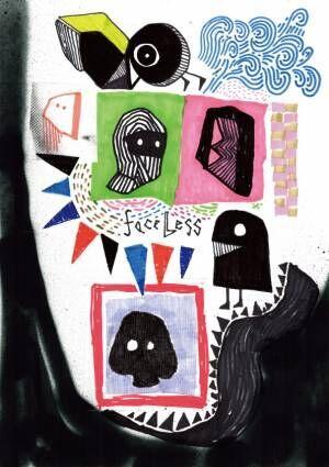 神山隆二のソロエキシビジョン「faceless」代官山で開催、ライブ感から生まれたポップアート作品展