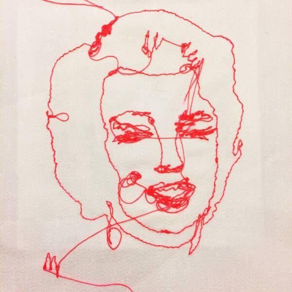 ウォーホル、マリリン・モンローなど時代のアイコンを刺繍する、アーティストMUの個展