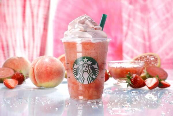一杯丸ごとピンク! スターバックス新作「ピーチ ピンク フルーツ フラペチーノ®」が夏限定で登場